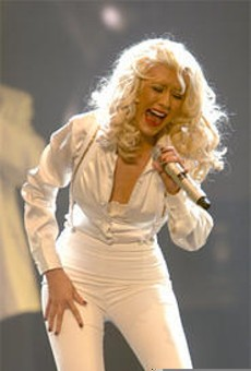 Aguilera cries out for her hydraulic bed.
