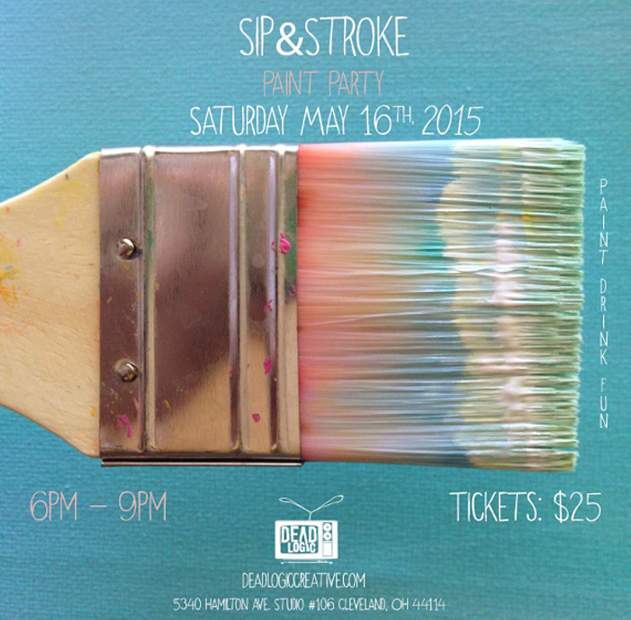 Sip stroke dead logic art exhibits cleveland scene for Paint and sip cleveland