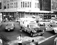 """Ambulance Accident,"" by Roe Ethridge, digitally enhanced photograph."