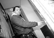 Angel Cuevas demonstrates the perils of life in Tremont. - WALTER  NOVAK
