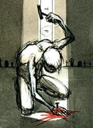 Artist Derek Hess' idea of Christmas cheer. - DEREK  HESS