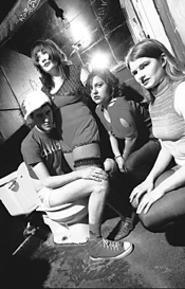Bathroom beats: Gravy Train specializes in toilet humor. - CHRIS  DUFFEY
