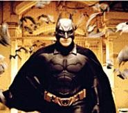 "Batman makes like Prince in the ""When Doves Cry"" video."
