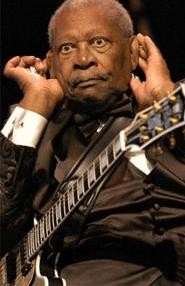 B.B. King, listening up, at Cain Park August 20. - WALTER  NOVAK