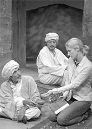 Bernadette Clemens plays Priscilla Ceiling in - Dobama's Homebody/Kabul.