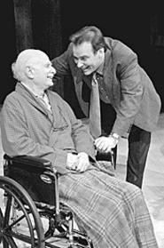 Bernie Passeltiner (seated) and Charles Kartali pull - 3-D performances out of a flat script in Tuesdays - With Morrie.