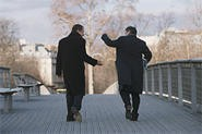 BFF: Dany Boon and Daniel Auteuil.
