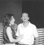 Big boy Joe Fornadel, with Beth Yager.