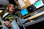 "Bill Peters at his Friday evening radio show, ""Metal on Metal."" - WALTER NOVAK"