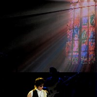Brian Wilson and Jeff Beck playing at E.J. Thomas Hall