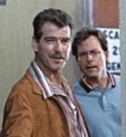 Brosnan (left) and Kinnear made a great movie that nobody saw.