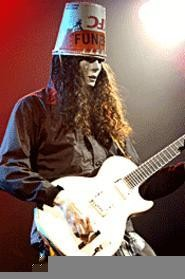 Buckethead, shredding at the Odeon November 2. - WALTER  NOVAK