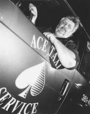 Cabbie Chris Christman, working the Flats on a recent Saturday. - WALTER  NOVAK