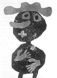 """""""Carrot Nose,"""" by Jean Dubuffet, color lithograph."""