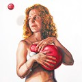 Chicks With Balls: An Exhibit of Paintings that Feature Just What the Title Says