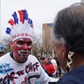 Chief Wahoo's Waterloo: A Photo from Protests Outside the Indians' Home Opener Goes Viral and the Debate Over the Team's Logo Grows