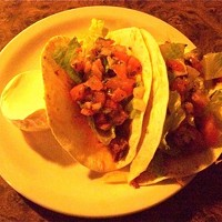 Parkview Nite Club: Detroit Shoreway Chipotle Pork Tacos ($7), Parkview Nite Club, Detroit ShorewayDos tacos stuffed with in-house smoked pork and topped with hot salsa, honey chipotle and cheddar cheese. Photo via Yelp