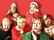 Christmas sneer: Holiday Hotline suffers from its - scattershot scenes.