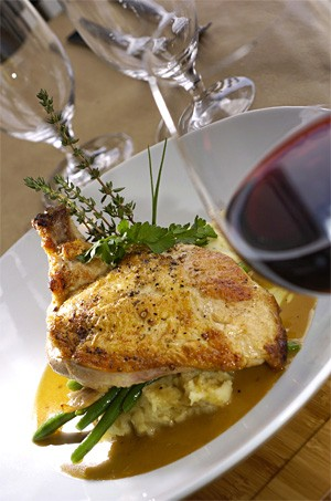 Cinnamon and brown sugar add a sophisticated crispiness to the brined chicken. - WALTER NOVAK