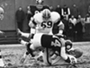 "Cleveland Browns vs. Pittsburgh Steelers- 1965  <p>""Browns defensive lineman Bill Glass (#80) takes down Pittsburgh Steelers quarterback Bill Nelsen (#14). Coming in on the play are Browns Jim Kanicki (#69) and Steelers Bob Nichols (#65). Bill Nelsen would later be traded to the Browns, where he played from 1968-1972."""
