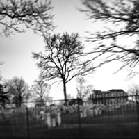 15 Real Northeast Ohio Haunted Places Cleveland's Old Chestnut Grove Cemetery has many ghosts and haunted areas. There is said to be a grave of a witch that is sunken into the ground and located next to a big, old tree. She may have been executed in the cemetery as well. The townspeople put an iron fence around the grave instead of installing a headstone. The burial site is reportedly difficult to find, as the fence no longer exists. However, beware of going on a witch hunt. Legend has it that if you get too close to the grave, something terrible will happen to you. Photo Courtesy of forgottenohio via Instagram
