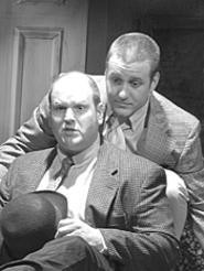 Cliff Bailey (left) and Arthur Grothe play a mysterious - doctor and his son.