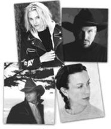 Clockwise, from top left: Aimee Mann, Garth Brooks, - Alanis Morissette, and Dwight Yoakam have lent their - support to Artists Against Piracy.