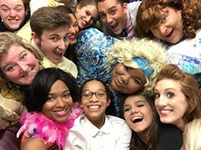 "Colorful characters from the cast of ""Hairspray"""