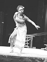 Corene Woodford is mesmerizing in Karamus For - Colored GIrls Who Have Considered Suicide/ - When the Rainbow is Enuf.