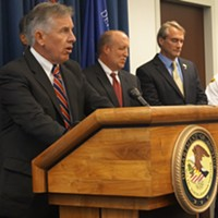 "Pictures From The ""Operation Fox Hound"" Press Conference Cuyahoga County Prosecutor Tim McGinty Doug Brown/Cleveland Scene"