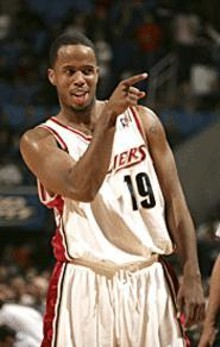 Damon Jones pointing in the mirror at his one true love.