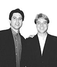 Dave Schwensen (with pal Ray Romano) knows how - to get lots of people to laugh at you.