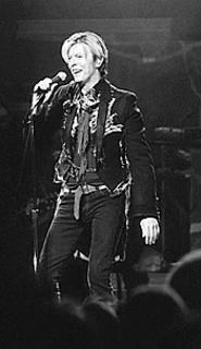 David Bowie, all smiles at the CSU Convocation - Center, Wednesday, January 7. - WALTER  NOVAK