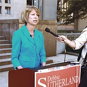 If Debbie Sutherland knocks a Democrat off the Board of Commissioners, she'll have the Democrats to thank