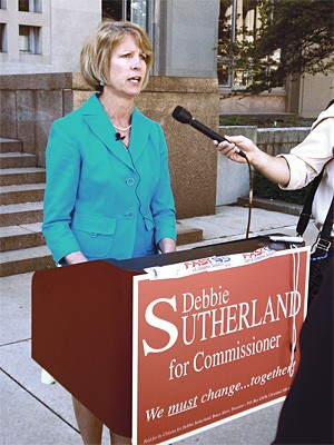Debbie Sutherland is the first legitimate Republican candidate in a decade.