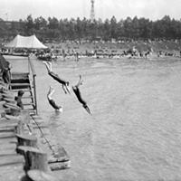15 Vintage Cleveland Beach Photos Diving.