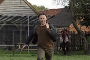 Don (Robert Carlyle) breaks in his new Nikes while fleeing a horde of snarling zombies.