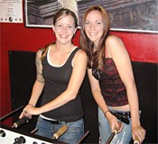 Don't mess with these ladies. Their beauty belies their foosball fierceness.