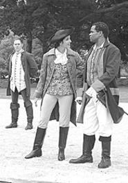 Doug Kusak, Margi Herwald, and William H. True have - a blast as rebels in this Revolution.