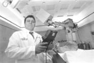 """Dr. Raymond Rodebaugh says the new Cyberknife - """"hasn't been tested in the world yet."""" - WALTER  NOVAK"""