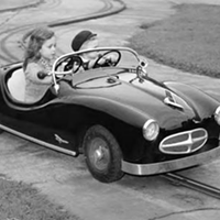 31 Vintage Photos of Kids Growing Up in Cleveland Driving like a boss at Euclid Beach Park, 1964.