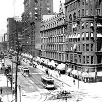 20 Photos of Old Cleveland Streetcars East 9th Street and Euclid, circa 1930-59 Cleveland Memory Project