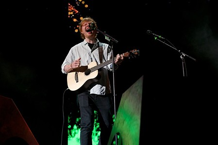 Ed Sheeran performing at the Wolstein Center last year. - SCOTT SANDBERG