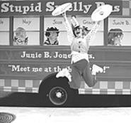 Eeewww! Junie B. Jones's Stupid Smelly Bus rolls - into Borders Tuesday.