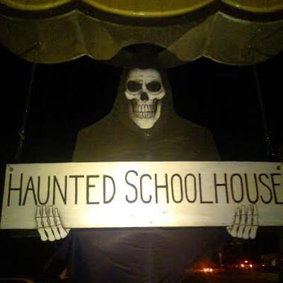 Eerie Photos of the Scene Events Team at Akron's Haunted Schoolhouse & Laboratory