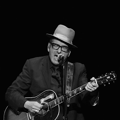 Elvis Costello Performing at the Palace Theatre