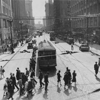 20 Photos of Old Cleveland Streetcars Euclid Ave. near East 6th Street, circa 1930 Cleveland Memory Project