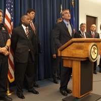 "Pictures From The ""Operation Fox Hound"" Press Conference Euclid mayor Bill Cervenik Doug Brown/Cleveland Scene"