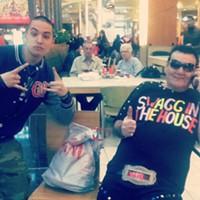 16 Swagalicious Shirts of Mall Guy Even if he's on the phone, he'll often oblige. Photo Courtesy of Danielle Honsaker via Instagram