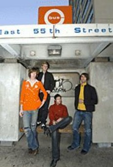 Fashionably loud: Boatzz frontman Michael di Liberto (third from left) once starred in a Levi's commercial.